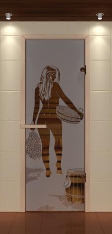 Двери для бани с рисунком