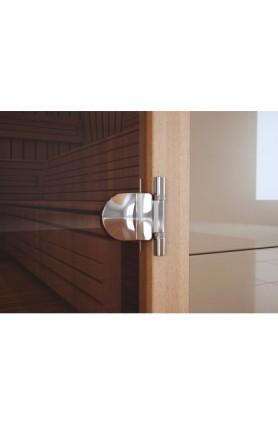 Комплектация двери для сауны 3 петлей