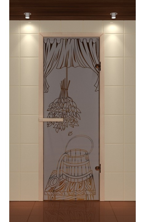 """Дверь для сауны стандарт, серия """"Банные аксессуары"""", стекло бронзовое"""