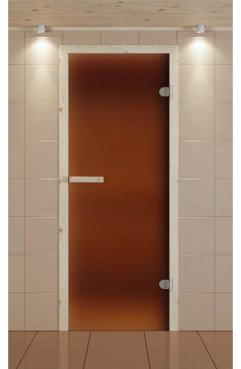 Дверь для сауны ALDO 690*2090 мм, стекло бронзовое матовое