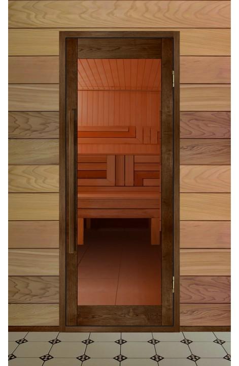 Дверь деревянная для бани серия ВЕКТОР