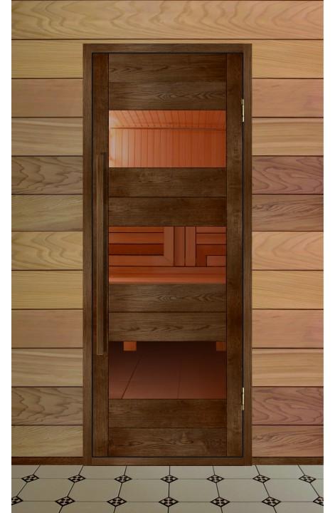 Дверь деревянная для бани серия МЕРИДИАН