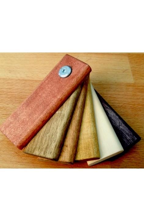 Покрытие короба и ручки двери в сауну льняным маслом в цвет