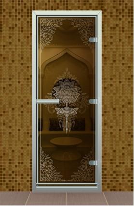 """Дверь для турецкой бани серия """"Цветок Лотоса"""""""