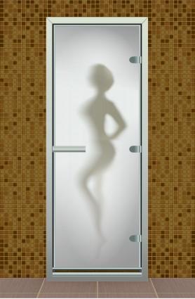 """Дверь для турецкой бани серия """"Силуэт"""" с фотопечатью"""