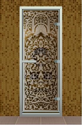 """Дверь для турецкой бани серия """"Византийское кружево"""""""