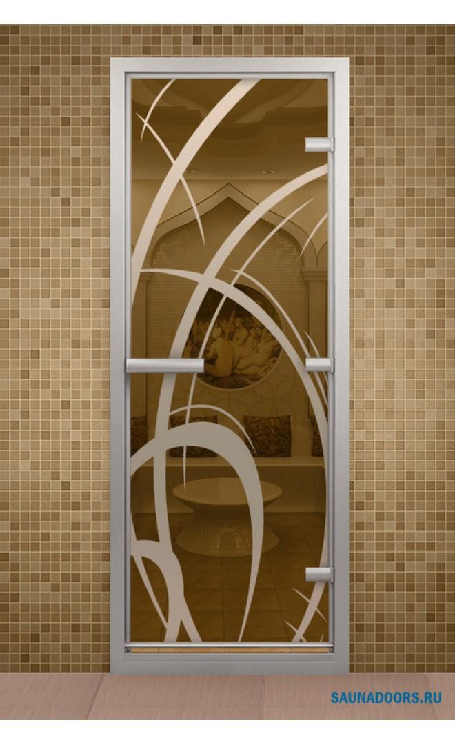 купить стеклянную дверь в баню
