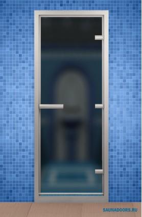 Дверь для турецкой бани АЛЬДОВУД 790*1990 мм, стекло серое