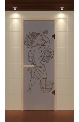 """Дверь для сауны стандарт, серия """"Эх, да банька!"""", стекло бронзовое"""