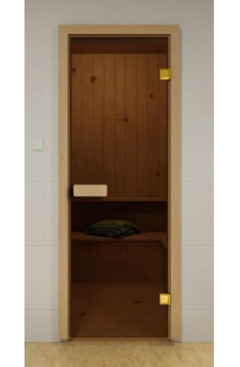 Дверь в сауну 2090х690 стекло Сатин