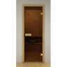Дверь в сауну 2090х790 стекло Сатин
