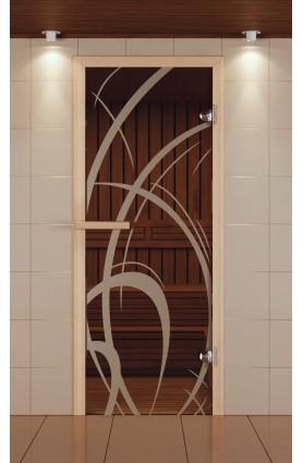 """Дверь для сауны стандарт, серия """"Мокко"""", стекло бронзовое"""