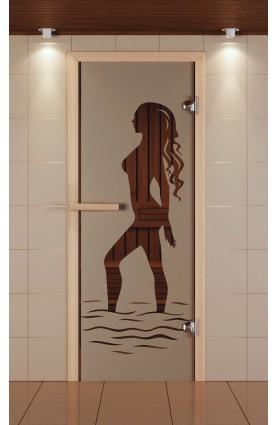 """Дверь для сауны стандарт, серия """"Наоми"""", стекло бронзовое"""
