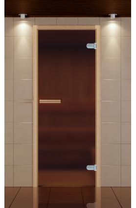 Дверь для сауны не стандарт стекло серое