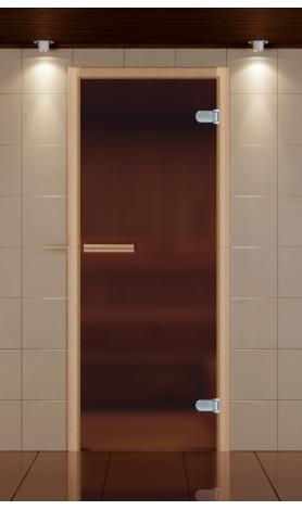 Дверь для сауны не стандарт стекло бронза