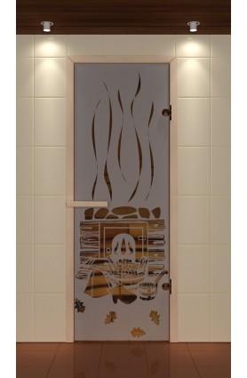 """Дверь для сауны стандарт, серия """"Парилка"""", стекло бронзовое"""