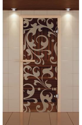 """Дверь для сауны стандарт, серия """"Петергоф"""", стекло бронзовое"""