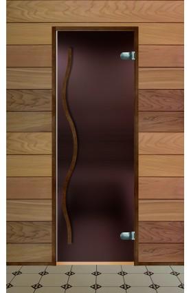 Дверь стеклянная для бани серия Элит стекло бронза сатин (Бук)