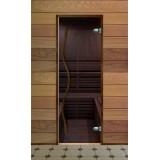 Дверь стеклянная для бани серия Элит стекло бронза (Бук)