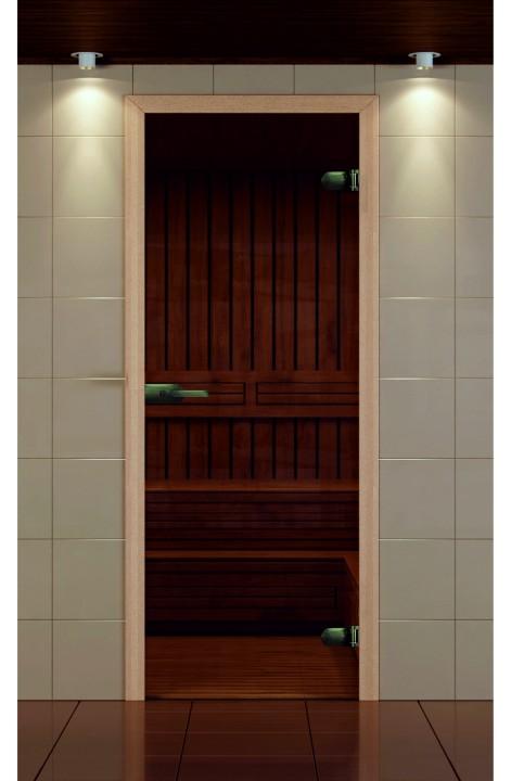 """Дверь для сауны, серия """"Премиум"""", коробка бук с замком"""