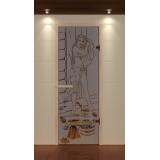 """Дверь для сауны стандарт, серия """"Русская красавица"""", стекло бронзовое"""