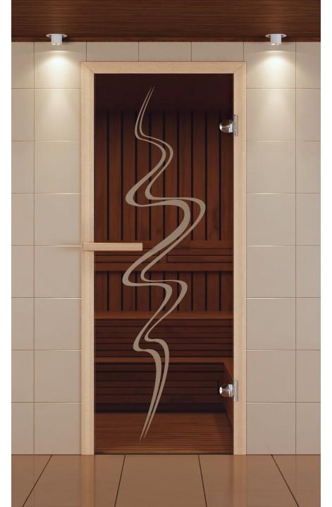 """Дверь для сауны стандарт, серия """"Торнадо"""", стекло бронзовое"""
