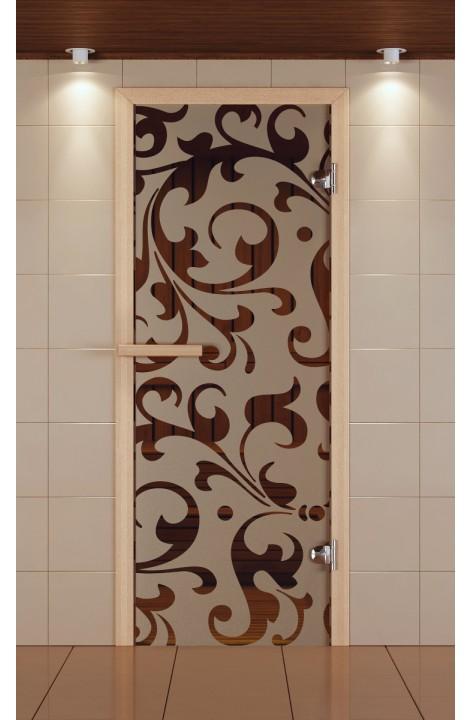 """Дверь для сауны стандарт, серия """"Версаль"""", стекло бронзовое"""