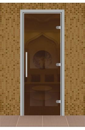 """Дверь для сауны, серия """"Веста"""", стекло бронза"""