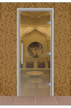 """Дверь для сауны, серия """"Веста"""", стекло прозрачное"""