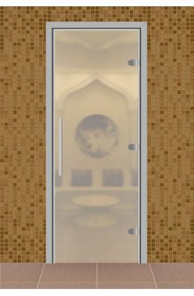"""Дверь для сауны, серия """"Веста"""", стекло прозрачное матовое"""