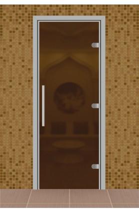 """Дверь для сауны, серия """"Веста"""", стекло бронза матовое"""
